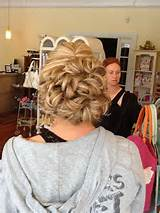 Maid of honor updo back view