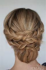 Hairdos For Long Thin Hair Hairstyle How-to: Easy braided updo ...
