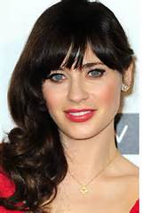Long Black side swept bangs hairstyles