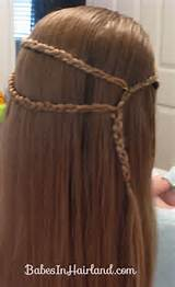 didn't braid it all the way to the end because I wanted to curl ...
